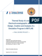 Thermal analysis of a new electrochromatographi device