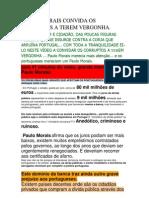 Paulo Morais Convida Os Corruptos a Terem Vergonha