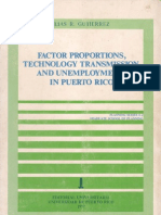 Factor Proportions, Technology Transmission and Unemployment in Puerto Rico