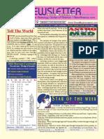 Astroamerica Newsletter Dated September 25, 2012