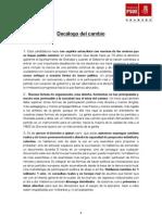 Decálogo del cambio PSOE Agrupación Granada