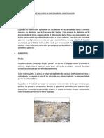 INFORME DEL CURSO DE MATERIALES DE CONSTRUCCIÓN
