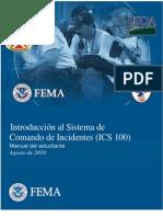 Ics - Introduccion Al Sisitema de Comandos de Incidentes - m.e.