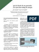 Metodologia de diseño de un generador piezoelectrico
