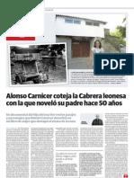 """Documental """"Donde las Hurdes se llaman Cabrera, 50 años después"""" de Alonso Carnicer y Sara Grimal. El Norte de Castilla 23-9-12 pp. 52-53 Jesús Bombín"""