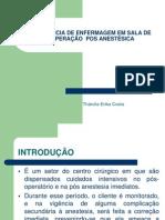 A ASSISTÊNCIA DE ENFERMAGEM EM SALA DE RECUPERAÇÃO.01 AULA
