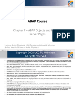 Abap Course Chapter7 Abap Objects and Bsp