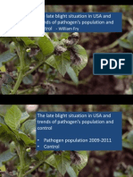 Late blight situation in USA and trends of pathogen's population and control