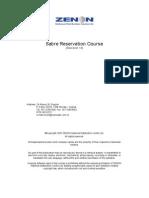 Sabre Reservation Manual