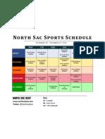 North Sac Sports Schedule (9-24-2012)