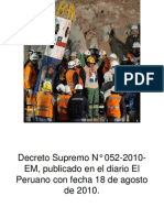 Decreto Supremo N° 052-2010-EM. GQ