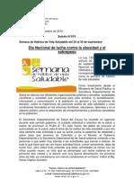 Boletín 074_ Día Nacional de lucha contra la obesidad y el sobrepeso