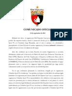 Comunicado Club Deportivo Lara