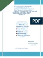 Cuestiones Previas Generalidaes, conceptos, Clasificacion CPC Venezuela