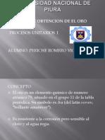 7.- Obtencion de El Oro