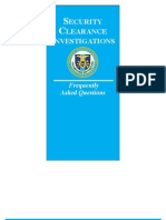 Security Clearance Faqs