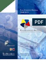 Plan Estadistico. Nacional 2008_2013