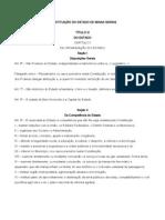 CONSTITUIÇÃO DO ESTADO DE MINAS GERAIS