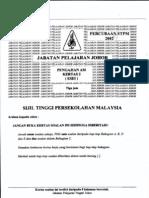 Trial Pa2 Johor 2012