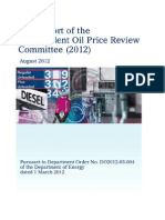 2012 Full report of the Independent Oil Price Review Committee