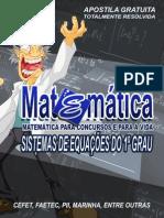 Sistema de Equações do 1° grau