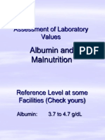 Albumin and Malnutrition Assessment