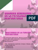 GRANDES SÍNDROMES DE LA PATOLOGÍA RESPIRATORIA