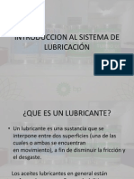 INTRODUCCION AL SISTEMA DE LUBRICACIÓN