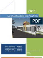 Trabajo de Localizacion de Planta