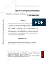 La relectura de nuestro Derecho Administrativo desde la Jurisprudencia del TC.
