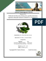 Practica Nº VI Tubérculo de Dioscorea, Extracción y purificación de las saponinas utilizando métodos Cualitativos y cuantitativos
