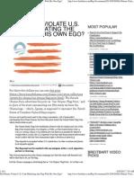 Did Obama Violate U.S. Code