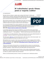 Full audio of 1998 'redistribution' speech Obama saw welfare re