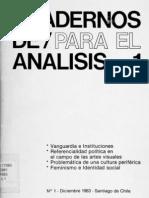Cuadernos de Para El Analisis Justo Pastor Mellado y Nelly Richard