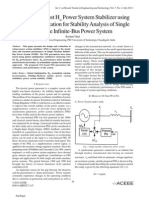 Tuning of Robust HPower System Stabilizer using Global Optimization for Stability Analysis of Single Machine Infinite-Bus Power System