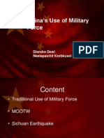 Presentation Week VII China's Use of Military Force Revised Communication Workshop