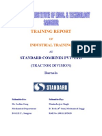 Training Report on Standard Tractors
