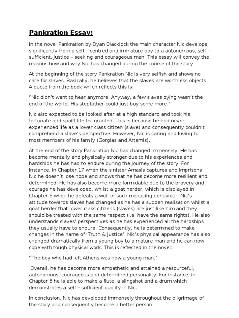 pankration novel essay Pankration dyan blacklock essays possible lnat essay questions 2014 essay personal development plan goals quoting a book title in an essay mla letter durga puja.