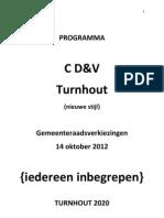 CD Env Turnhout Program Ma 2012