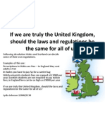 If We Are Truly the United Kingdom,