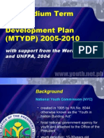 Medium Term Youth Development Plan 2005-2010 Krj