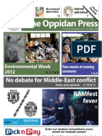 The Oppidan Press - Edition 3 - 2012