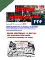 Noticias Uruguayas Martes 25 de Setiembre Del 2012