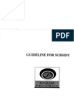 Guideline for Subsidy