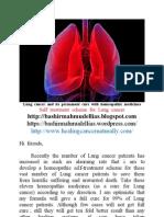 Lung Cancer and Its Homeopathic Self Treatment Scheme _ Bashir Mahmud Ellias