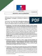 2012-09-21 - Argumentaire Ump - Education Halte a La Demagogie