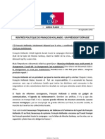 2012-09-10- Argumentaire Ump - Rentree Politique de Francois Hollande