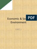 Economic & Social Environment