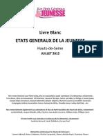 Livre Blanc Etats Généraux de la Jeunesse 92