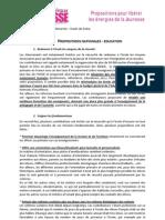 Livre Blanc Etats Généraux de la Jeunesse 92 - Focus - Propositions Education